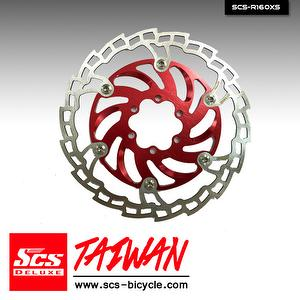 SCS Patented 2-piece Brake Disc Rotor【160mm+180mm】Single Color With Bolts