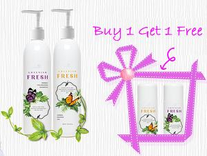 Greenish Fresh Herbal Shampoo and Shower Gel Set