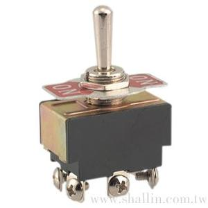 6P 3 ways toggle switch (DPDT) on-off-on  125V 10A