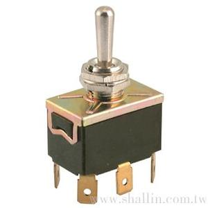 6P 3 ways toggle switch (DPDT) (on)-off-(on)
