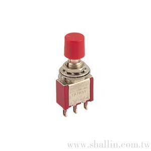 3P mini pushbutton switch (SPDT) on-(on) 120V3A (250V1A)