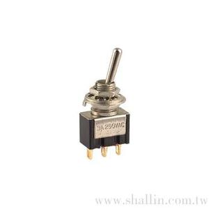 3P mini toggle switch (SPDT) on-on gold-pin