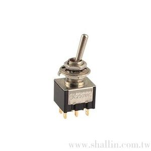 6P mini toggle switch (DPDT) on-on
