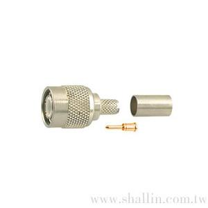 TNC male crimp type (RG58U) gold-pin