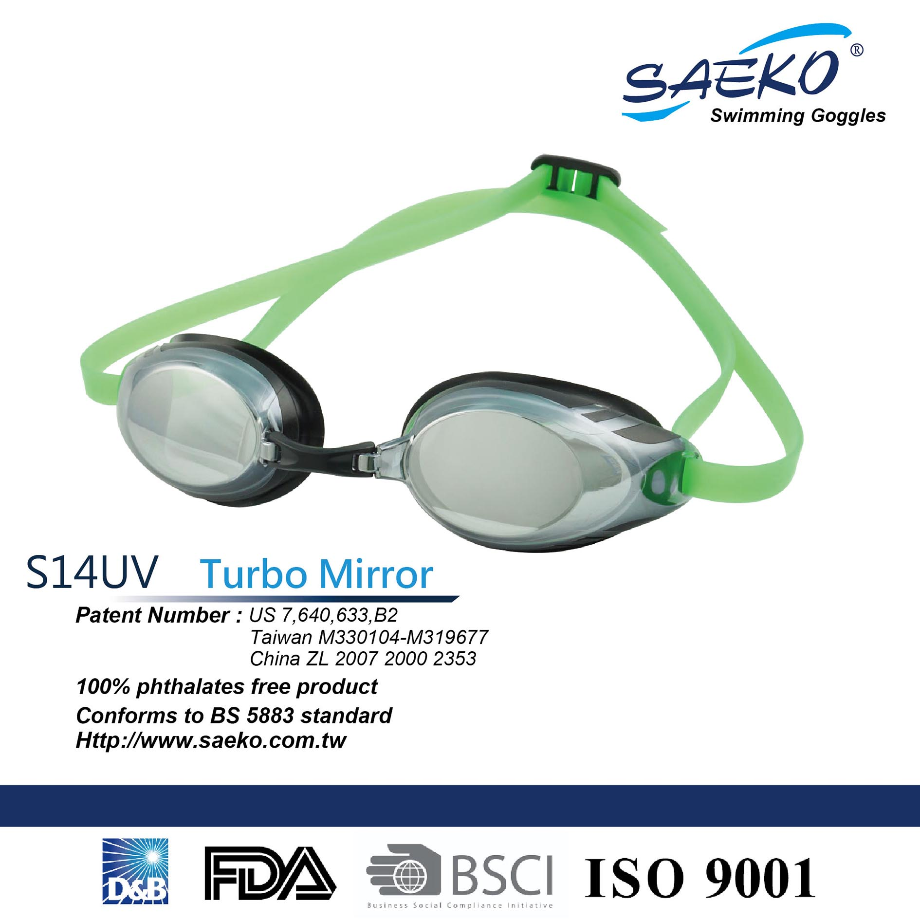 31aed9176d7b Best-selling Racing SWIMMING GOGGLES S14UV Turbo Mirror BKGN