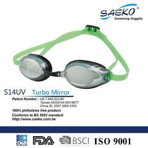 Best-selling Racing SWIMMING GOGGLES_S14UV Turbo Mirror BKGN