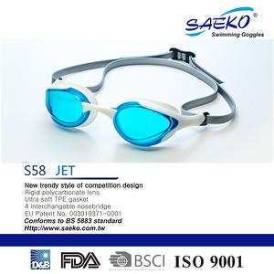 Saeko swimming goggles 2017 newest S58 JET color AQUABLUE