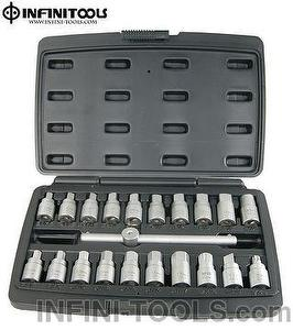 21-piece Drain Plug Key Set , 3/8