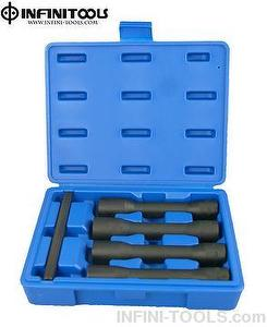 5-piece Impact Special Twist Long Socket Set,1/2 inch Drive