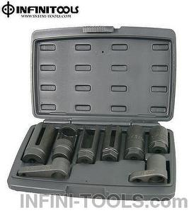 Oxygen Sensor And Sending Unit Socket Set,8-piece ,含氧感應套筒組
