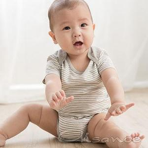 Baby knitted Bodysuit Over lapel shoulder