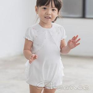 Baby bridal Gown, Baby organza girls romper, Baby girls one-