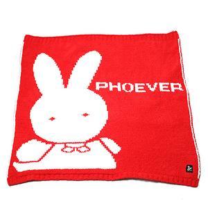 类喀什米尔超细纤维兔兔儿童舒柔毯-红