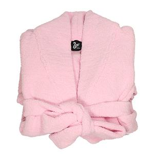 Cashmere-Like Kid Robe-Pink