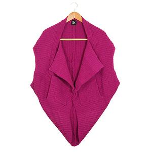 Cashmere-Like Multi-function Vest-Purple wine