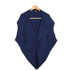 Cashmere-Like Multi-function Vest-Crown blue