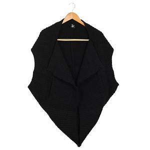 Cashmere-Like Multi-function Vest-Black