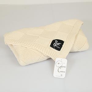 天然有机棉无染色立体针织儿童毯婴儿巾-自然色