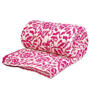 Cashmere-Like Double Blanket -Magenta