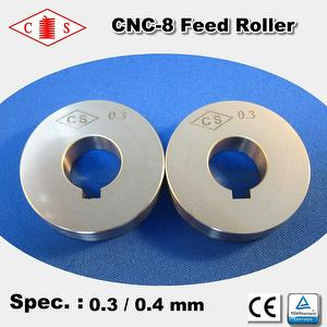 CNC-8 Feed Roller 0.3 / 0.4 mm - Front