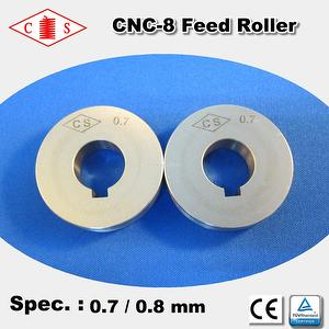 CNC-8 Feed Roller 0.7 / 0.8 mm - Front