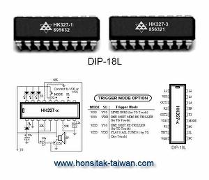 Natural Harmonic IC HK327, DIP-18L
