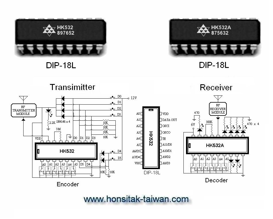 encoder    decoder ic hk532  dip  decoder ic