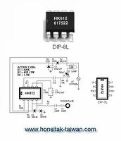 Touch Dimmer IC HK612, DIP-8L