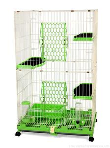 New Pet Cat Cage (4 colors ) 2 Floors With Wheels