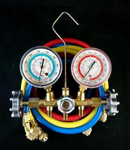 Diagnostic AC manifold gauge set with 60 inch hoses for R410