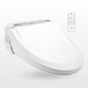 bidet toilet seat with tank heater and side control, white