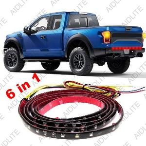 60 inch Red/White 6 in 1 Tailgate LED Strip Light