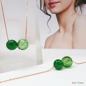 Green Agate August Titanium Steel Rose Gold S925 Diffuser