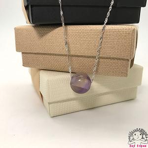 [925 Silver Ametrine] 14.8mm Bead Pendant Necklace 3