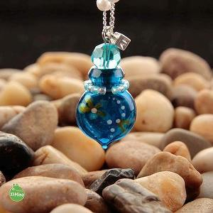 ESSENTIAL OIL DIFFUSER CHERISH PAINTED NECKLACE BLUE 1