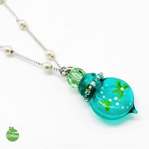ESSENTIAL OIL DIFFUSER CHERISH PAINTED NECKLACE GREEN 1