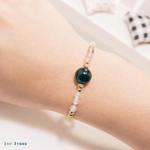 Happiness Bracelet - Beads Precious Stones - Obsidian