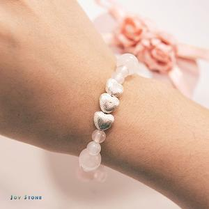 In Love Bracelet - Rose Quartz - White Agate-925