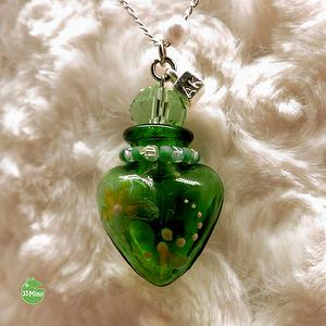 ESSENTIAL OIL CHERISH PAINTED NECKLACE YELLOW GREEN 1