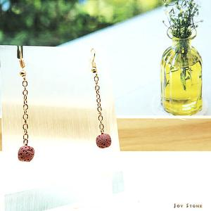 Dangle Diffuser Pink Aroma Rock Earrings Geranium Scent 2