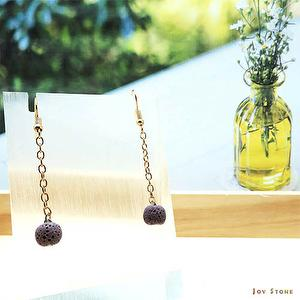 Essential Oil Purple Aroma Rock Earrings