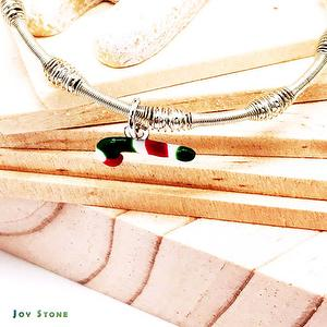 Candy Cane Silver Beads Bracelet - Xmas Party Queen 5