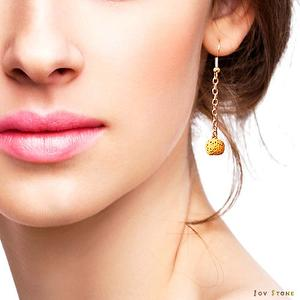 Diffuser Earrings Yellow Aroma Rock Lava Beads