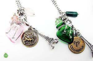 ARIES CONSTELLATION ZODIAC SIGN AROMA VIAL NECKLACE 1
