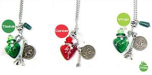 TAURUS CANCER VIRGO ZODIAC SIGNS AROMA VIAL NECKLACE