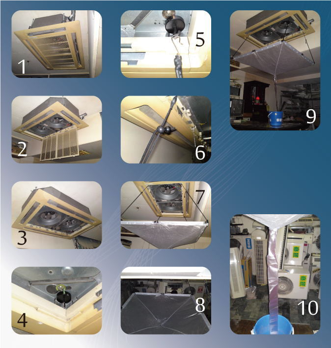 Kingpump Cleaning Cover For Ceiling Or Mounted Type Of Air