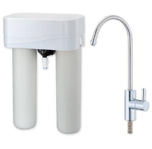 2 stage Drinking water system W/Mechanical flowmeter&Faucet