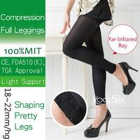 2 Pairs Far Infrared Ray Compression Full Leggings 18~22mmHg