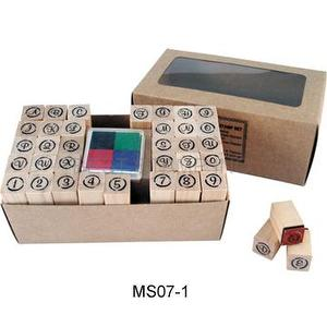 Wooden Mini Stamp Set-Alphabet & Number