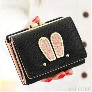 GVF KOREA CHARMING RABBIT EAR SHORT WALLET PURSE